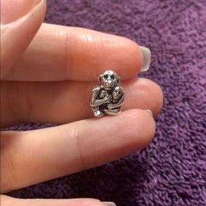 Jewelry - Baby monkey mom mommy European Charm Bead